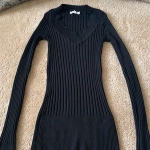 Ribbed Black Shirt